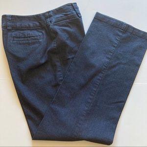 Focus 2000 trouser style jeans. Size 8. Dark wash